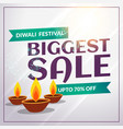 festival seasonal diwali discount and sale banner vector image vector image