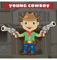 Fictional cartoon character - young cowboy vector image vector image