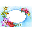 floral greeting card with watercolor background vector image vector image