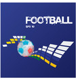 football text modern geometry ball background vect vector image vector image