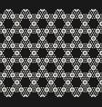 geometric hexagon seamless black pattern vector image vector image