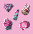 girly icon image vector image vector image