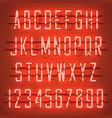 glowing orange neon casual script font vector image vector image