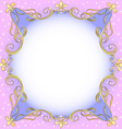 Golden Ornamental Frame vector image vector image