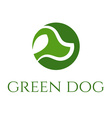 green dog veterinary concept vector image vector image