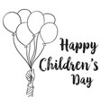 happy children day design collection vector image vector image