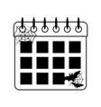 happy halloween calendar bats cobweb trick vector image vector image