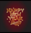 happy new year and star vector image