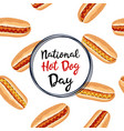 homemade hot dogs vector image vector image