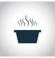 Hot dish black icon vector image