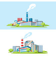 industrial factory backgrounds vector image vector image