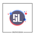initial letter sl logo template design vector image