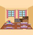 interior of kindergarten classroom vector image vector image