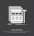 internet page web webpage wireframe icon glyph vector image vector image