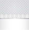 lace floral border on net background vector image vector image