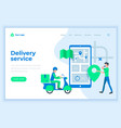 landing page template delivery service concept vector image