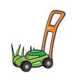 lawn mower vector image