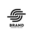 letter s circle strips logo design vector image vector image
