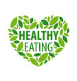 logo heart from petals for a healthy diet vector image
