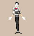 Mime performance - shrugging shoulders vector image vector image