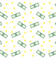 money banknote and coins seamless pattern vector image vector image
