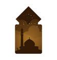 mosque ethnic window view design vector image vector image