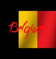national day belgium vector image vector image