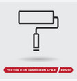paint roller icon in modern style for web site vector image vector image