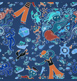 pattern in the marine style children background vector image