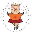 pig - skates the symbol 2019 vector image vector image
