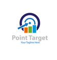point target financial logo designs vector image vector image