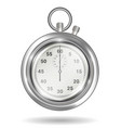 real steel handy stopwatch on a white background vector image