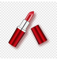 red lipstick - isolated on transparent background vector image