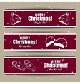 Red Xmas Banners vector image vector image