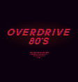 retrowave synthwave red font design in style vector image vector image