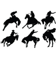 rodeo silhouette vector image vector image