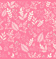 romantic seamless pattern naive flower vector image