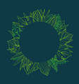 round frame with tropical leaves template for vector image vector image