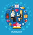 round valentines day composition vector image vector image