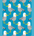 seagull pattern seamless gull bird background vector image vector image