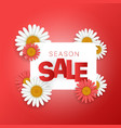 season sale offer season sale banner square vector image vector image