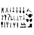 set garden hand tools icon vector image vector image