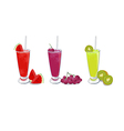 smoothies fruit set 1 vector image vector image