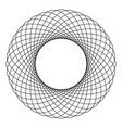 spirograph abstract element circle shape vector image