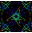 The star of the passing neon lines in such a frame vector image