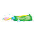 tooth brush and paste vector image vector image