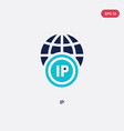 two color ip icon from big data concept isolated vector image vector image