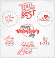 Valentines Day Typography Design Elements vector image vector image