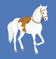white arabian stallion standing vector image