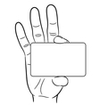 woman hand holding a plastic card on white backg vector image vector image